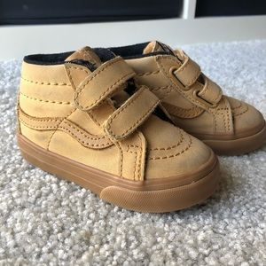 Vans SK8-mid tan sneakers (toddler 5)